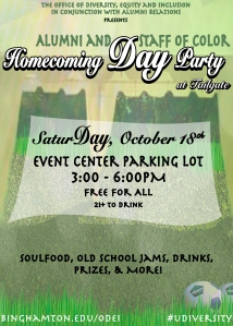 Homecoming Day Party Flier