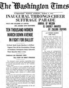 image of article on 1913 Women's Suffrage March